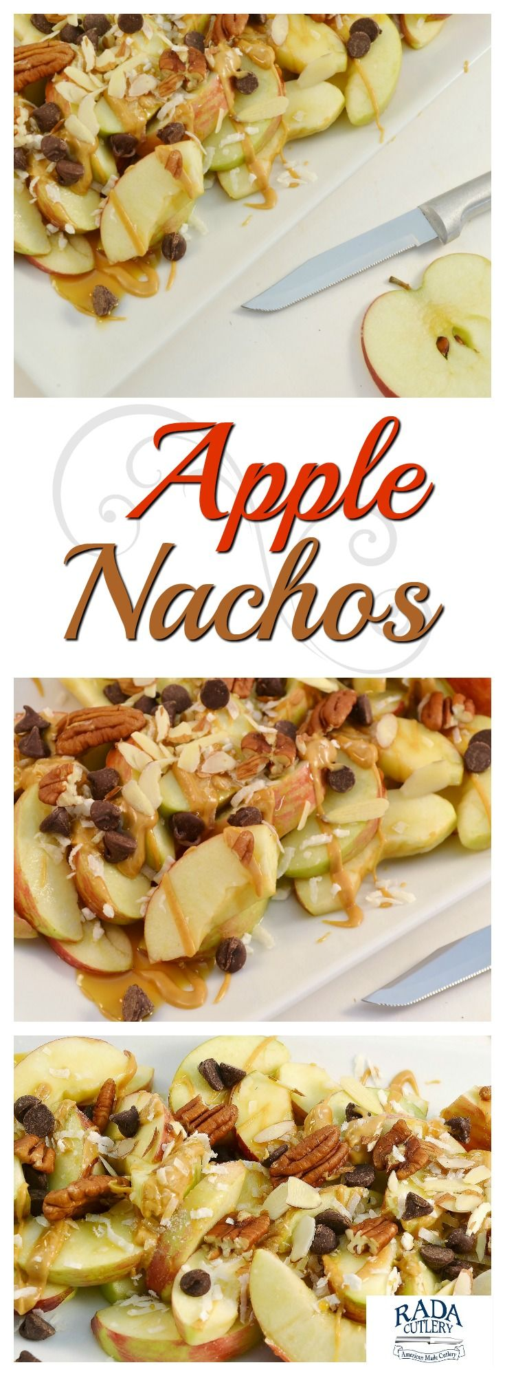 Prepare these Apple Nachos for a healthy twist on a classic snack! This tasty spin on nachos not only tastes wonderful, but is easy to make and with healthy ingredients! #fruit #snack #after #school