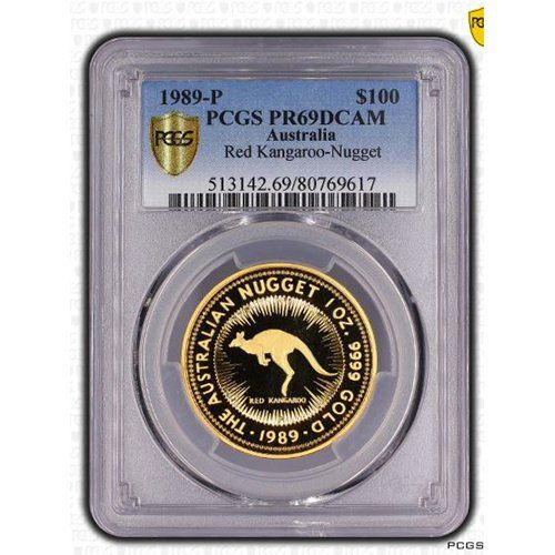 1989 AU PCGS MS69 1989 Australia Red Kangaroo 1oz Gold Proof Coin Gold PR-69 PCGS ** More info could be found at the image url.