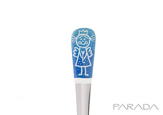 Angel Sugar Spoon Standing Angel with Halo Enamel Coffee
