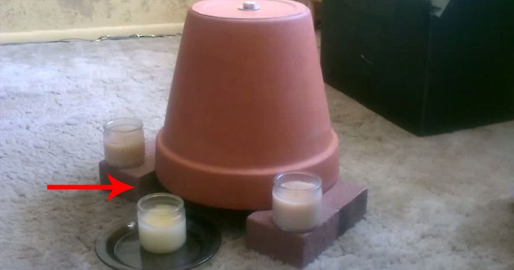 How To Quickly Make A Heater With Just Candles And Plant Pots