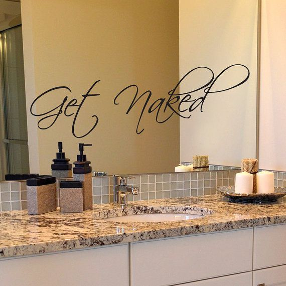 Get Naked Decal Bathroom Mirror Inspirational