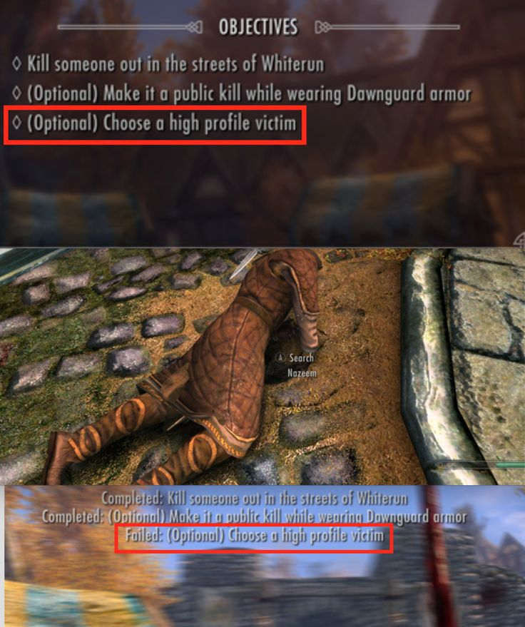 I loved this subtle jab at Nazeem....snobbery doesn't help you in Skyrim!