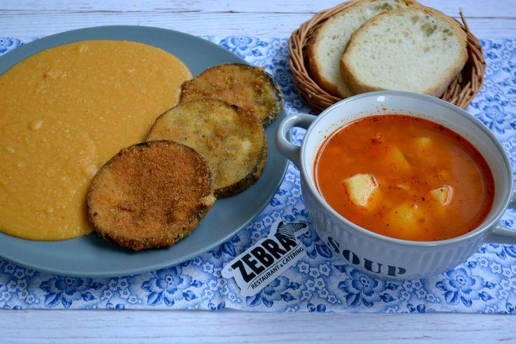 Ciorba de cartofi (400 ml) Vinete pane cu fasole batuta (100/200 g)