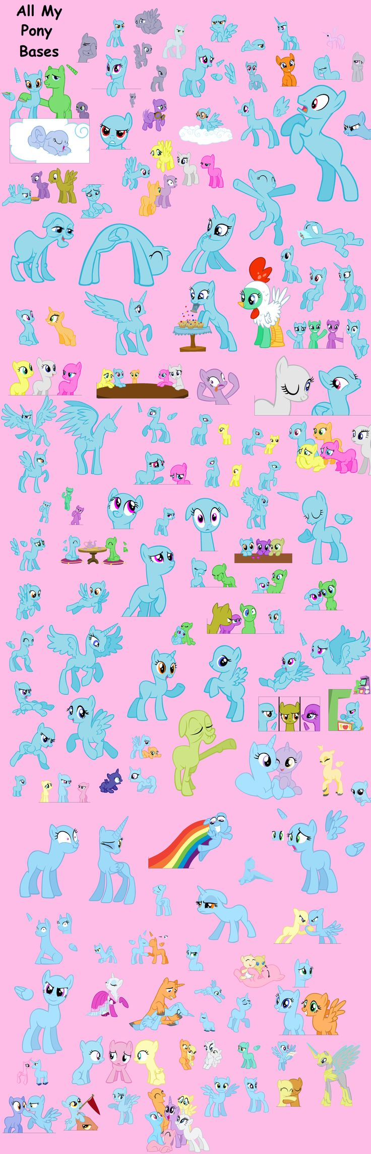 ALL MY PONY BASES by ~Rain-Approves on deviantART