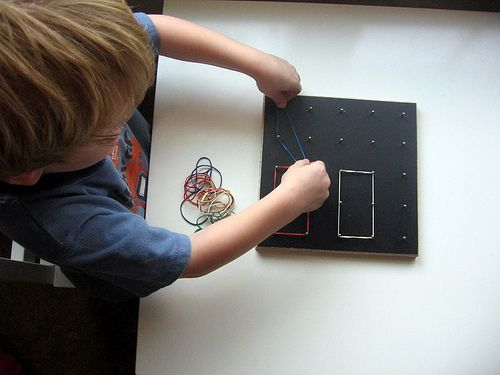Totally going to make geoboards for the girls for holidays. Even Fin will get a kick out of it.