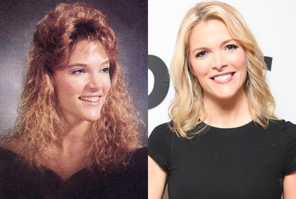 Megyn Kelly— Then and Now  Fox News's Megyn Kelly is smart, gorgeous, and, based on this photo, once had some seriously '80s hair. Kelly hosts All American New Year on the Fox News Channel alongside Bill Hemmer. This year the show will reportedly feature live text messages from viewers.