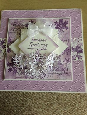 Christmas Card made at Phill Martin's craftathon using Sentimentally Yours stamps