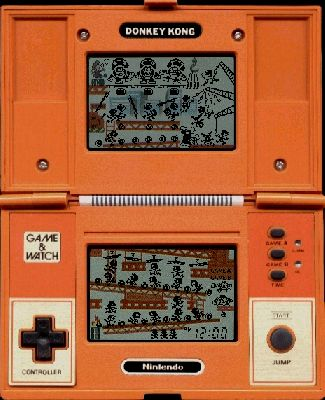 Handheld Nintendo game from the 80s - Donkey Kong. My sister and I never had any of these, but I remember other kids having them in school and playing. They were so awesome!