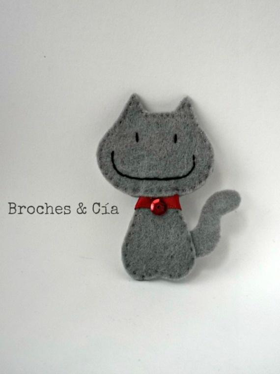 Broche gatito / Broches & Cía - Artesanio