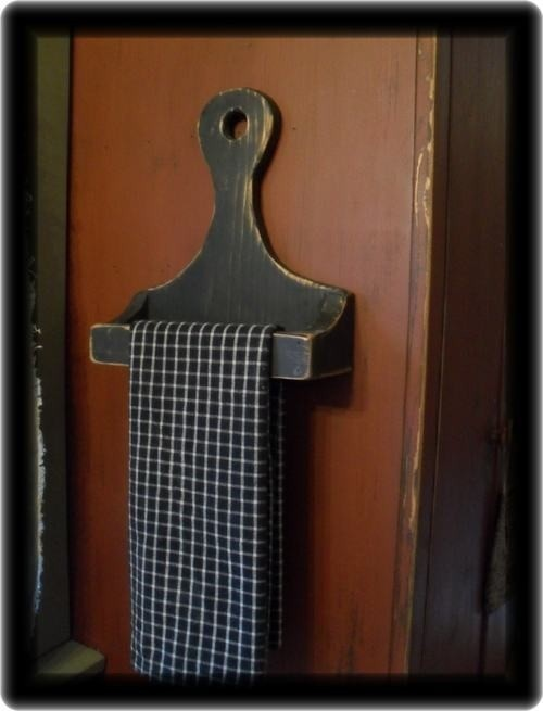 Primitive Handcrafted Wood Hand Towel Rack Bar by palmerfalls, $24.00
