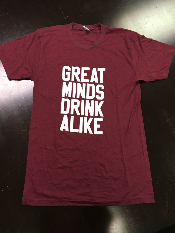 """Great Minds Drink Alike"" crew neck t-shirt, supporting Destin Charity Wine Auction Foundation"