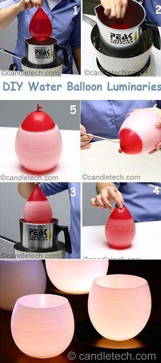 DIY Water Balloon Luminaries