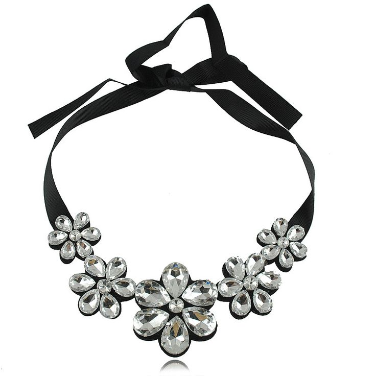 Ювелирные изделия себе лента ожерелья ясно горный хрусталь ювелирные изделия ювелирные изделия