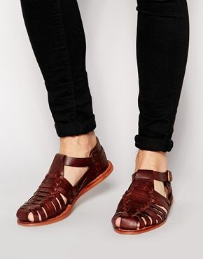 ASOS+Fisherman+Sandals+in+Leather