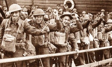 War heroes: Soldiers in the British Expeditionary Force, who were involved in the evacuation of Dunkirk in 1940