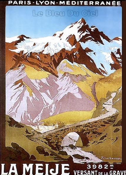 Hautes-Alpes Vintage - La meije 3982 m, versant de La grave #myhautesalpes