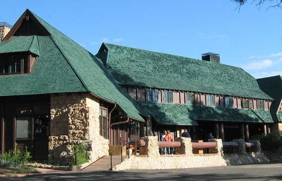 Bryce Canyon Lodge, inside the N. P.
