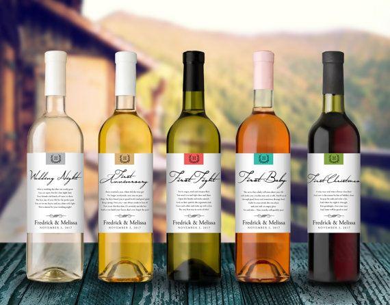 Bridal Shower Wine Poem - Wedding Firsts - Wine Gift Sets - Personalized Wine Gifts - Personalized Wedding Gifts - Milestone Wine Basket