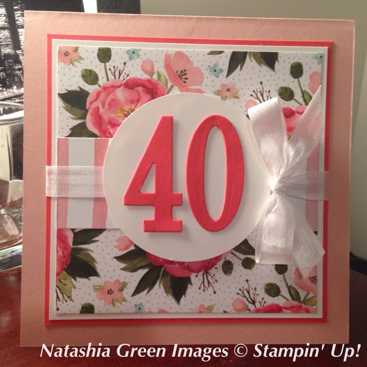 Number of Years - Stampin' Up!Instead of the 40 being in pink use gold paper.....