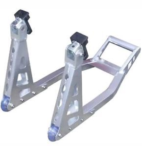 aluminio moto motocicleta frente plata paddock stand - Categoria: Avisos Clasificados Gratis  Estado del Producto: NuevoMOTORCYCLE MOTORBIKE XTRM ALUMINIUM SILVER FRONT PADDOCK STAND MOTORCYCLE MOTORBIKE ALUMINIUM SILVER FRONT PADDOCK STAND The Universal Front Paddock stand is ideal for safely supporting your road bike Ideal for carrying out maintainence on your bike wheel, chain etc Manufactured using high grade aluminium alloy Front Paddock Stand: 3mm thick high grade aluminium…