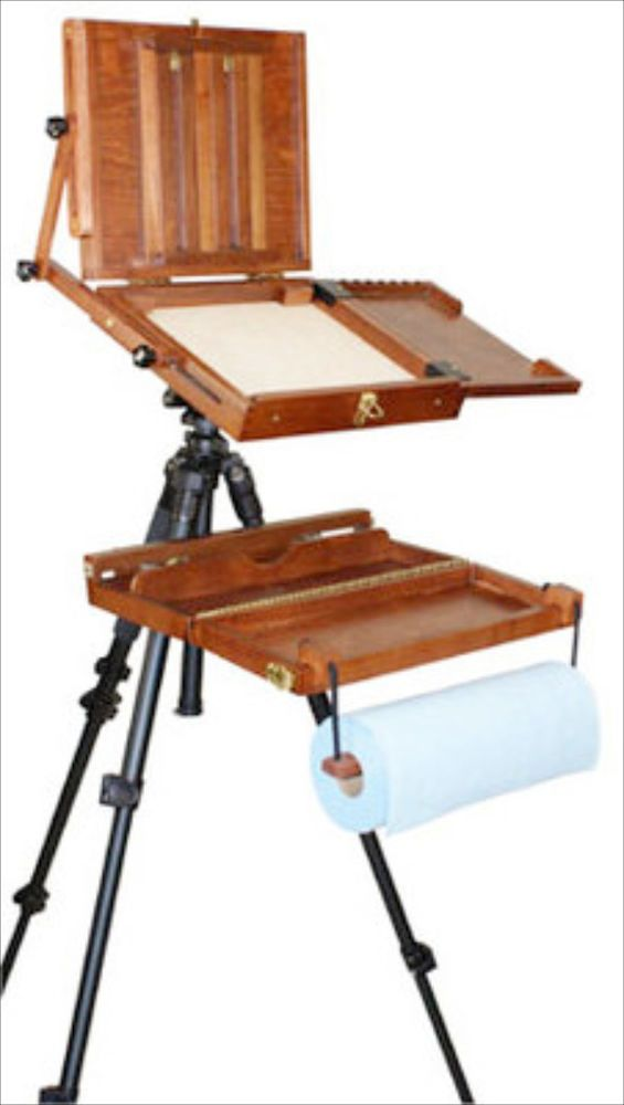 One dream....PORTABLE WOODEN ARTIST PAINTING POCHADE BOX CASE ART PAINT SUPPLY EASEL EASLE