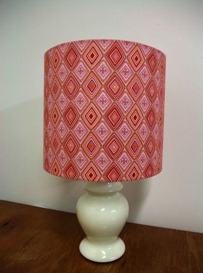 Lampshade - Pink and Orange Diamonds