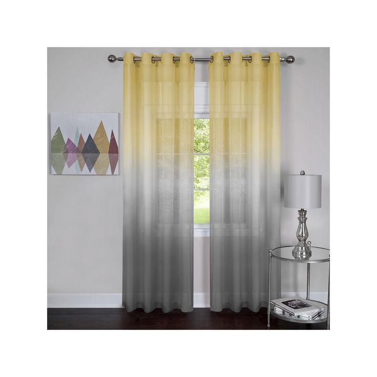 Achim Rainbow Curtain, Grey