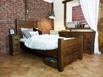 Borovicová postel Rustyk / Dobromir 140