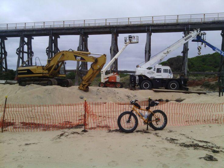 Kilcunda Trestle Bridge works