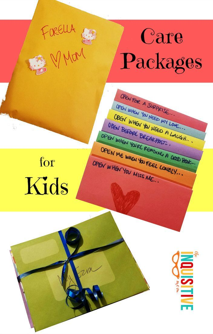 These simple, DIY Care Packages for Kids are perfect when kids are away at camp, on study abroad, gone for a long weekend, or traveling for the summer.