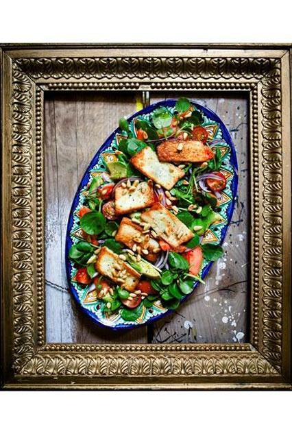 Hemsley And Hemsley Papaya Halloumi Salad Recipe (Vogue.com UK)