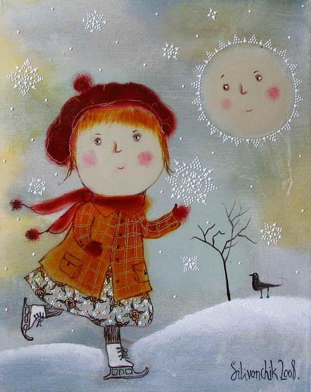 """Snowflake"" 2008. 50х40cm. Oil on canvas."