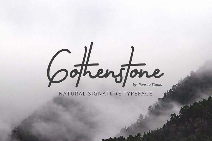 gothenstone 288401 handwritten font bundles signature fonts new fonts graphic design fonts pinterest