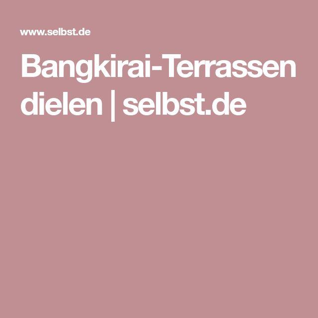 Bangkirai-Terrassendielen   selbst.de