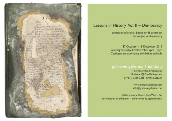 Artist Book Exhibition - Lessons in History Vol. II‏