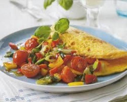 Vegetarische omelet  5,1 KH
