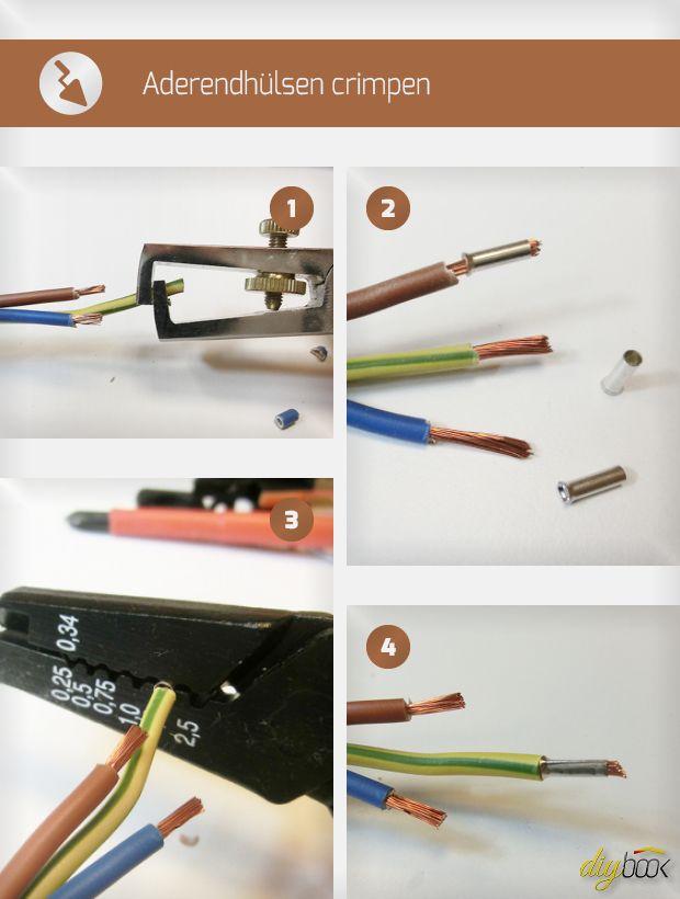 Aderendhülsen crimpen zählt zu den täglichen Arbeiten des Elektrikers. Der Heimwerker hat da oft weniger Routine. Wir zeigen das Crimpen einfacher Aderendhülsen.