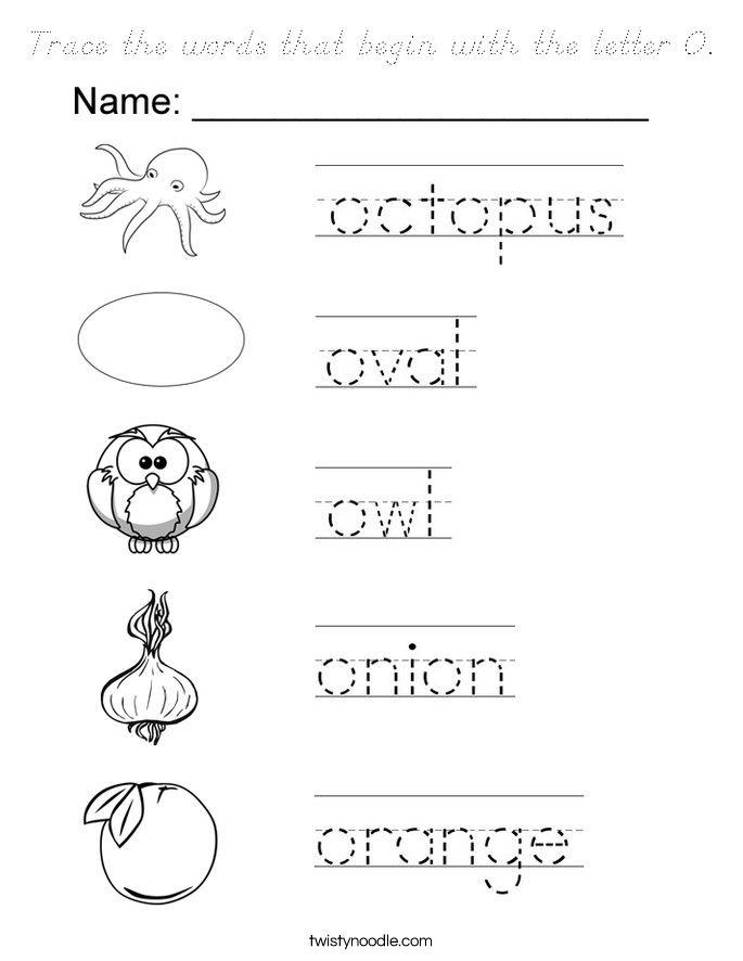 Words That Start With The Letter O Letter O Worksheets Letter O Lettering - Download Beginning Letter O Worksheets For Kindergarten PNG