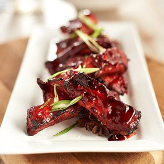 Chinese Spare Ribs (would omit food coloring )