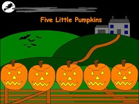 Five Little Pumpkins with boomwhackers--K and 1st