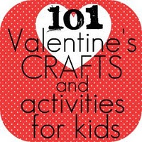 101 Valentine's crafts and activities for kids. A lot of cute ideas.