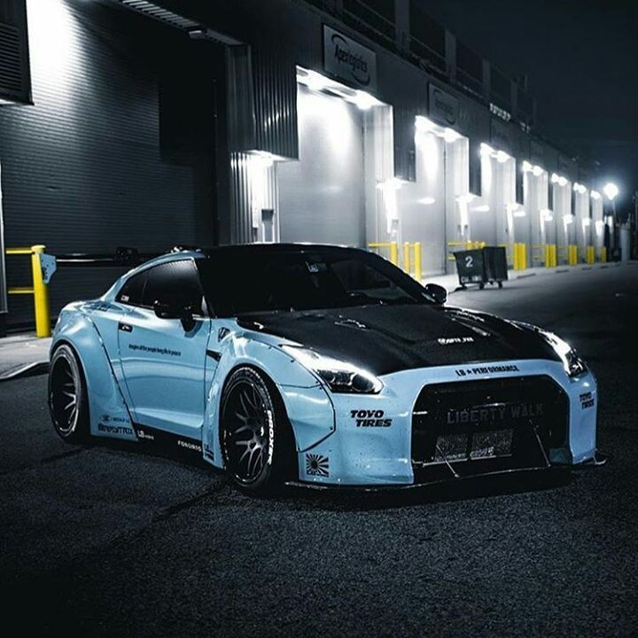 "12 Likes, 1 Comments - Car community⚪ (@cars_everwheree) on Instagram: ""Fire ⚪ ⚪ ⚪ ⚪ ⚪ #gtr#r35#blue#libertywalk#clean#nissan#supercar#exotic#gtrr35#godzilla"""