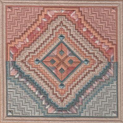 Needlepoint Aransas A Structured Geometric Texas Design by Dakota Rogers | eBay