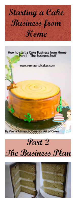 How to start a cake business from home2 Business Plan is an excellent post that gives you the whole scoop and insight into starting your own cake business. Excellent Article by Veenas Art of Cake