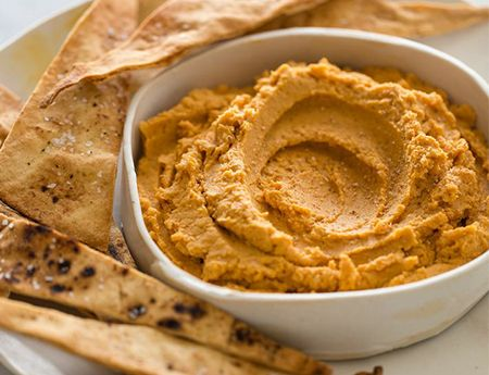 Our pumpkin hummus recipe is a great variation on a party favourite.