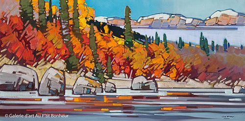 Cameron Bird, 'Morning Along the Athabasca', 24'' x 48''   Galerie d'art - Au P'tit Bonheur - Art Gallery