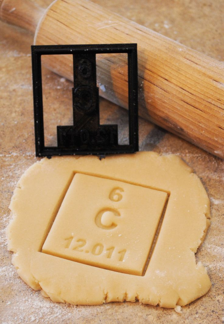 3D Printed Carbon Periodic Table of Elements cookie cutter by BoeTech on Etsy https://www.etsy.com/listing/173273979/3d-printed-carbon-periodic-table-of