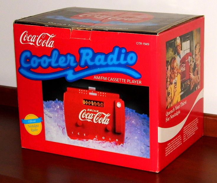 https://flic.kr/p/UYxhRJ | Coca-Cola Cooler Radio AM-FM Cassette Player Novelty Radio By Randix Nostalgia Products, Model OTR-1949, Made In China, Copyright 1988 | An earlier version of this radio was made in Hong Kong.