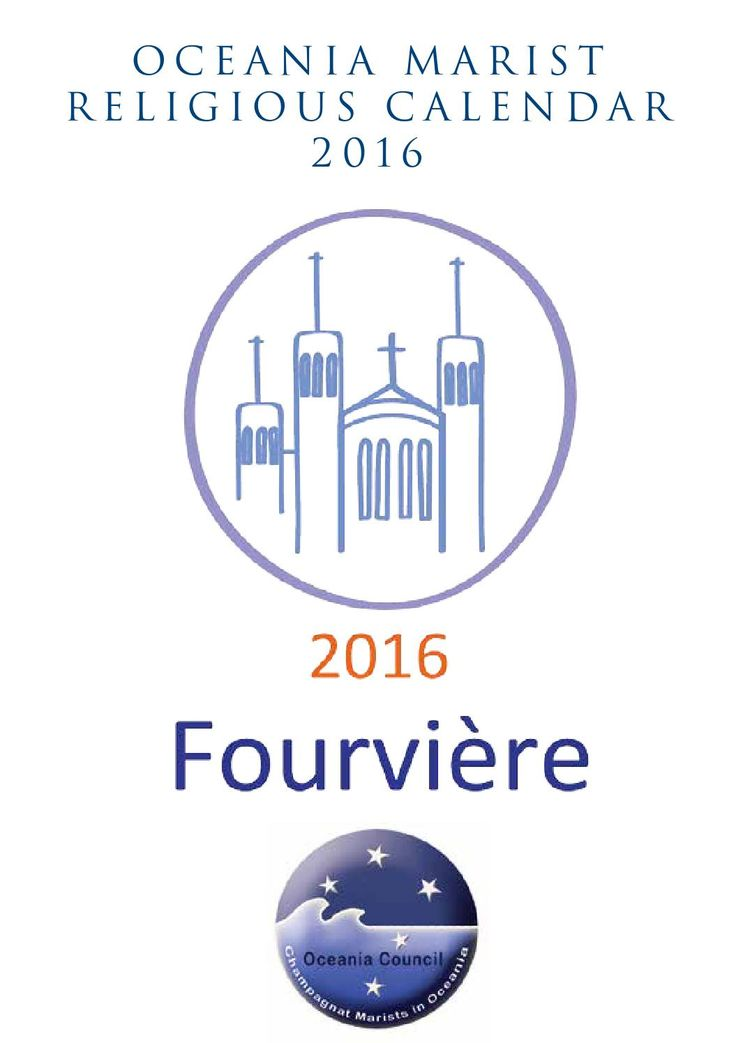 2016 oceania marist religious calendar