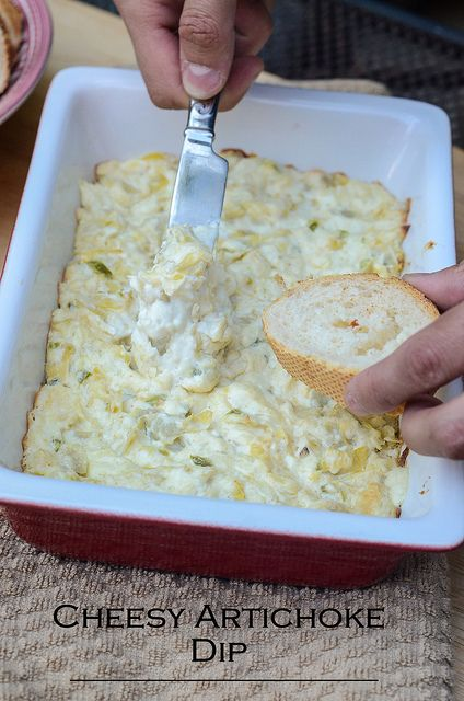 Cheesy Artichoke Dip | From Valerie's Kitchen, for more recipes like this visit our website.